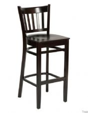 Hants Wooden High Stool in Wenge